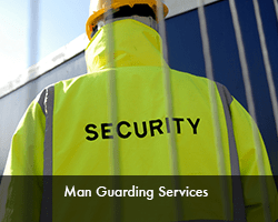 man guarding services
